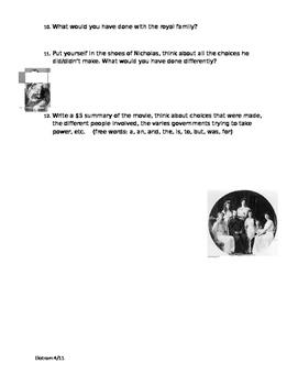 """""""Nicholas and Alexandra"""" Movie Guide"""