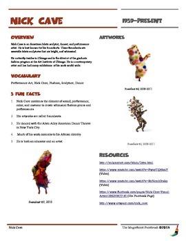Nick Cave Informational Worksheet