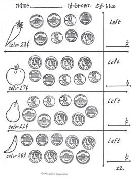 Nickel Book: Money Practice Pages for Nickels