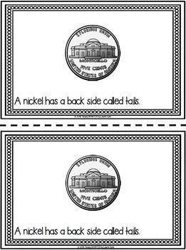 Nickel Emergent Reader Coin Book AND Interactive Activities