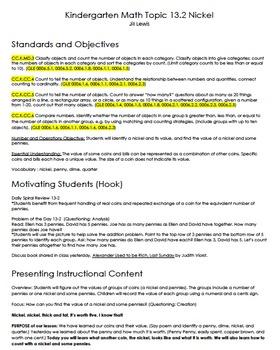 Nickel Lesson Plan - Common Core/TEAM Model