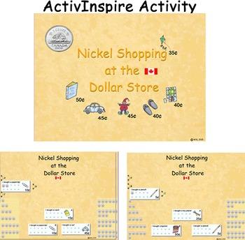 Nickel Shopping in the Dollar Store (CDN) ActivInspire