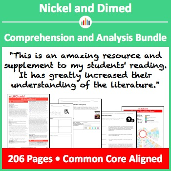 Nickel and Dimed – Comprehension and Analysis Bundle