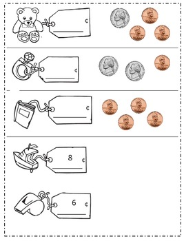 Nickel and Penny Piggy Bank Practice!