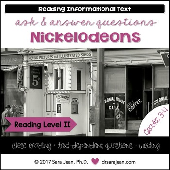 Nickelodeons • Reading Comprehension Passages and Questions • RL II