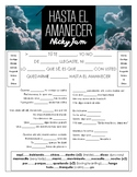 Nicky Jam - 'Hasta el Amanecer' Cloze Song Sheet!