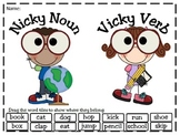 Nicky Noun and Vicky Verb PowerPoint Word Sort