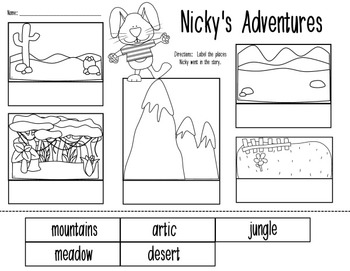 Nicky and the Rainy Day Comprehension, and Vocabulary