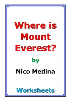 "Nico Medina ""Where Is Mount Everest?"" worksheets"