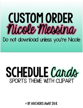Nicole's custom order