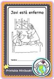 Javi está enfermo Spanish Printable Minibook
