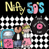 Nifty Fifties- 50th Day of School Math and Literacy Fun 1950's