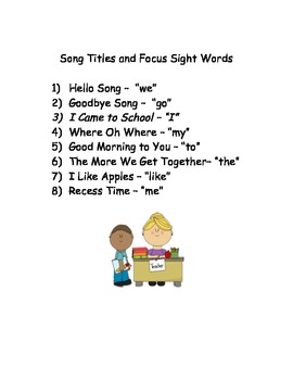 Nifty Names and Sight Words Too!