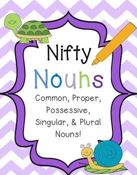 Nifty Nouns {Common, Proper, Possessive, Singular, & Plural Noun Activities}