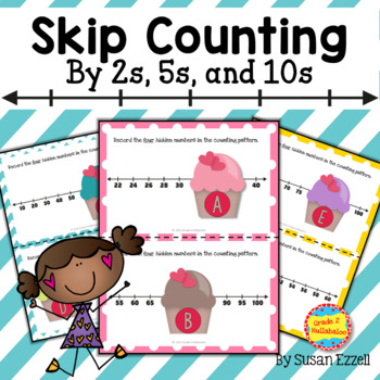 Nifty Number Lines - 26 Math Station Cards and More!