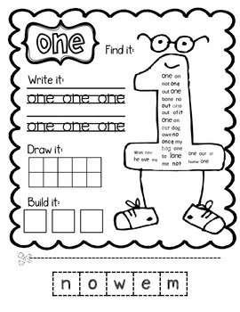 Nifty Number Words--Centers & Games for Number Word Recognition