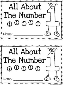 Nifty Numbers 1-10 --- Interactive Number Books for the Numbers 1-10