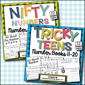 Nifty Numbers 1-10 / Tricky Teen Numbers 11-20 - Interacti