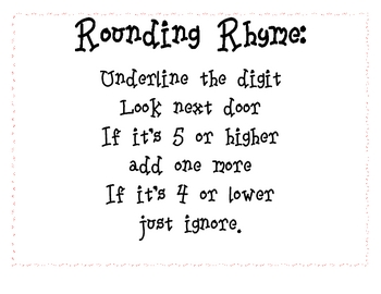 Nifty Rounding Rhyme Poster