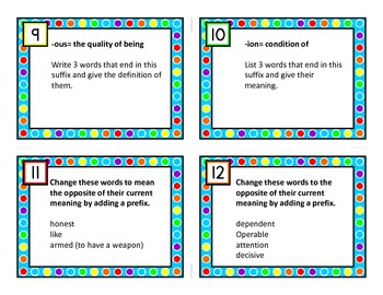 Nifty Thrifty Fifty Task Cards