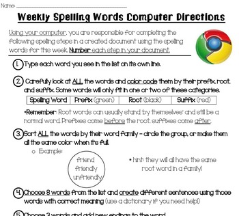 Nifty Thrifty Fifty: Word Work/ Spelling Directions (28 Weeks)