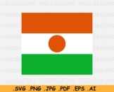 Niger National Flag, Nigerien Country Banner Print SVG Cricut EPS AI PNG JPG PDF