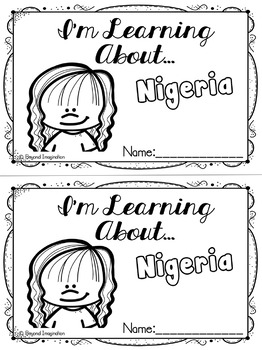 Nigeria Booklet Country Study Project Unit