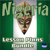 Nigeria Lesson Plans Bundle with Test Prep ELA Informational Reading Passage