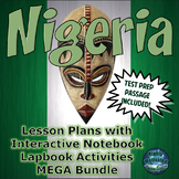 Nigeria Lesson Plans with Interactive Notebook Activities & Test Prep Bundle