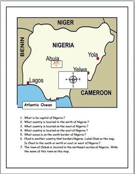 Nigeria Map Activities