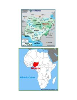 Nigeria Map Scavenger Hunt