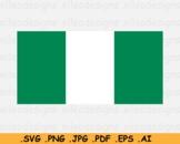 Nigeria National Flag, Nigerian Country Banner, SVG Cricut - EPS AI PNG JPG PDF