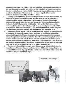 Nigeria:  The Legend From Lagos Informational ELA Reading Test Prep Passage