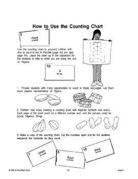 Nigerian Counting Chart