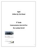 Night- A Holocaust Novel 23 Day Unit