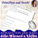 Elie Wiesel's Night: A Literary and Historical Web Quest
