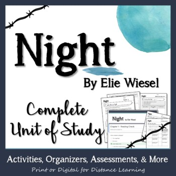 Night Elie Wiesel A Unit Of Study With Lessons Activities And