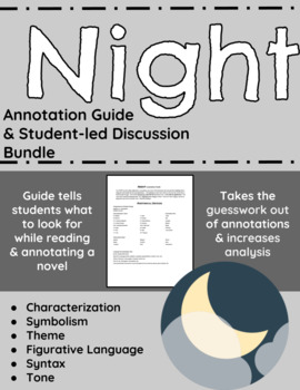 Night Annotation Guide and Student-led Discussion Bundle