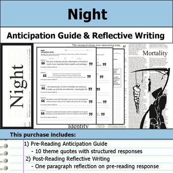 Night - Anticipation Guide & Reflection