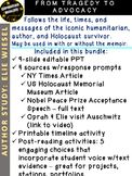 Night Author Study: Elie Wiesel 4 texts w/prompts timeline choice board project