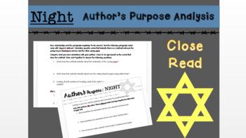 Night Author's Purpose Analysis