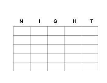 Night BINGO review game
