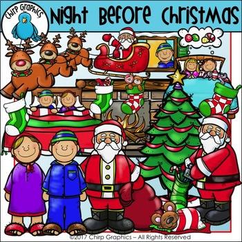 Night Before Christmas Clip Art Set - Chirp Graphics