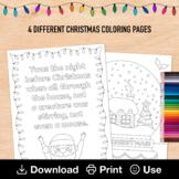 Night Before Christmas Coloring Sheet, Snow Globe Coloring Pages, Ho Ho Ho Santa