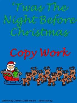 Night Before Christmas Copy Work