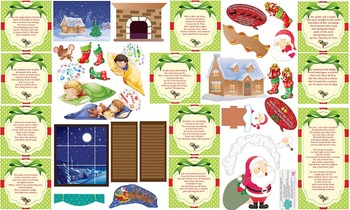 Night Before Christmas Interactive Wall Play Set + Downloadable Story Audio File