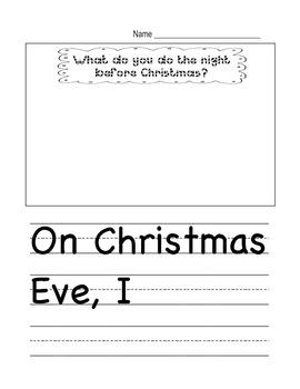 Night Before Christmas Writing Template
