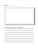 Night Before Fifth Grade Activity Sheet
