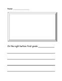 Night Before First Grade Activity Sheet