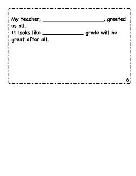 Night Before School Mini Fill-In Book